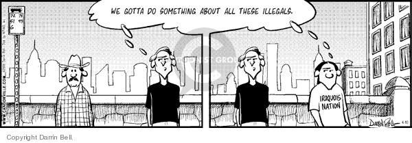 Comic Strip Darrin Bell  Candorville 2006-04-10 immigration bill