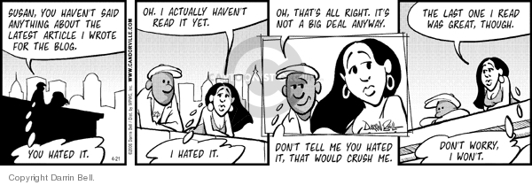Comic Strip Darrin Bell  Candorville 2006-04-21 criticize
