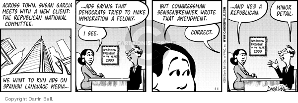 Comic Strip Darrin Bell  Candorville 2006-05-05 amendment