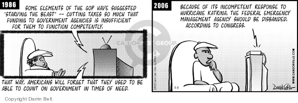 Comic Strip Darrin Bell  Candorville 2006-05-08 natural disaster