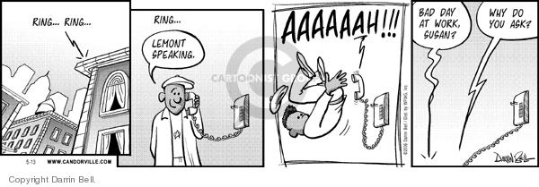 Cartoonist Darrin Bell  Candorville 2006-05-13 job