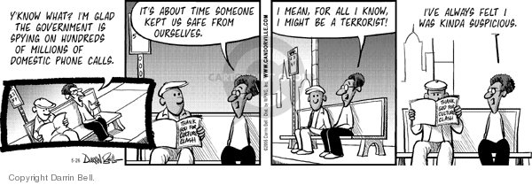 Comic Strip Darrin Bell  Candorville 2006-05-26 fourth amendment