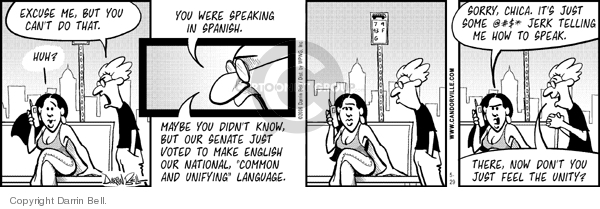 Comic Strip Darrin Bell  Candorville 2006-05-29 language
