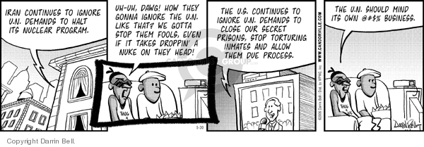 Comic Strip Darrin Bell  Candorville 2006-05-30 nuclear weapon
