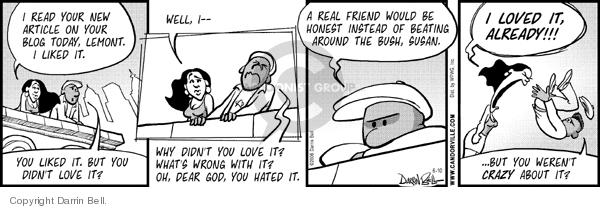 Comic Strip Darrin Bell  Candorville 2006-06-10 fear