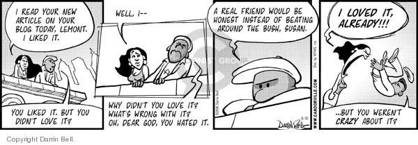 Cartoonist Darrin Bell  Candorville 2006-06-10 politics and fear