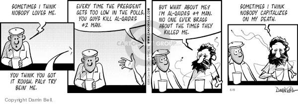 Comic Strip Darrin Bell  Candorville 2006-06-19 Bush polls