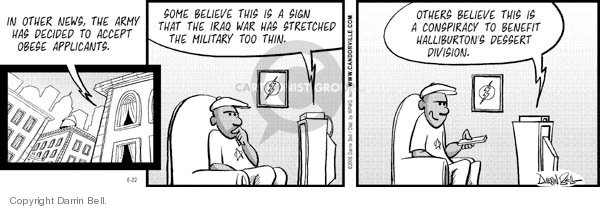 Comic Strip Darrin Bell  Candorville 2006-06-22 army