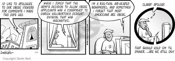 Comic Strip Darrin Bell  Candorville 2006-06-24 fat