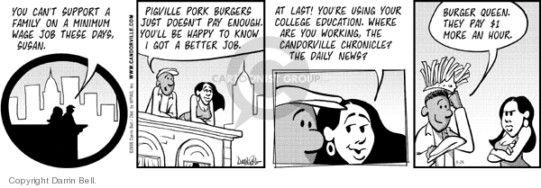 Comic Strip Darrin Bell  Candorville 2006-06-26 fast food