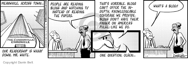Comic Strip Darrin Bell  Candorville 2006-06-28 readership