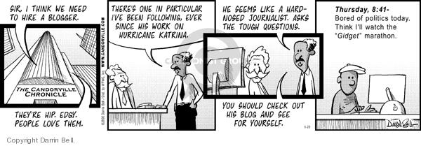 Cartoonist Darrin Bell  Candorville 2006-06-29 politics