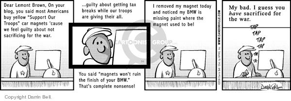 Comic Strip Darrin Bell  Candorville 2006-07-01 Iraq war