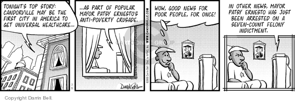 Comic Strip Darrin Bell  Candorville 2006-07-05 poverty