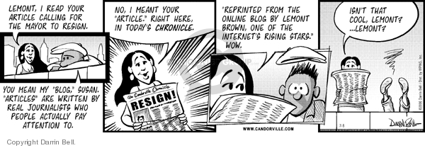 Comic Strip Darrin Bell  Candorville 2006-07-08 meant