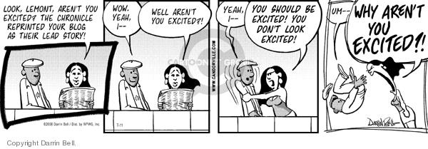 Cartoonist Darrin Bell  Candorville 2006-07-11 newspaper article