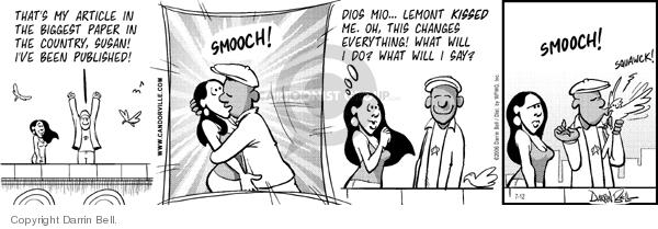 Cartoonist Darrin Bell  Candorville 2006-07-12 newspaper article
