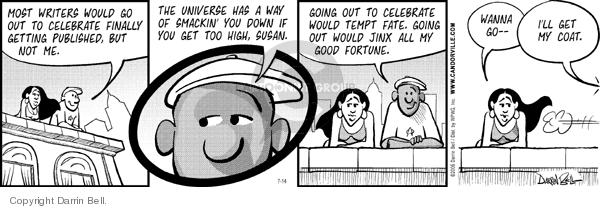 Comic Strip Darrin Bell  Candorville 2006-07-14 celebrate
