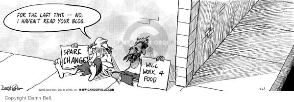 Comic Strip Darrin Bell  Candorville 2006-07-22 homeless