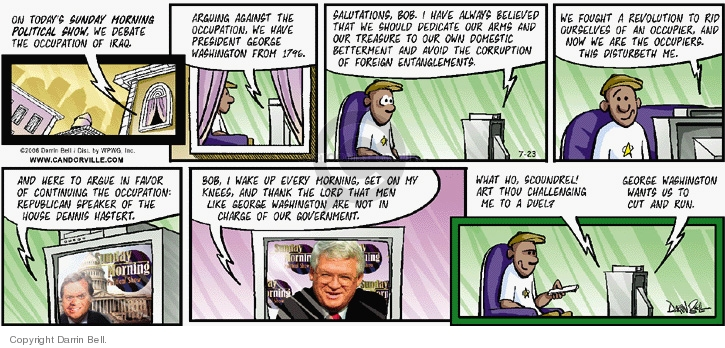Comic Strip Darrin Bell  Candorville 2006-07-23 House of Representatives