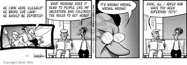 Comic Strip Darrin Bell  Candorville 2006-07-25 deport