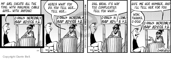 Comic Strip Darrin Bell  Candorville 2006-08-04 mailman