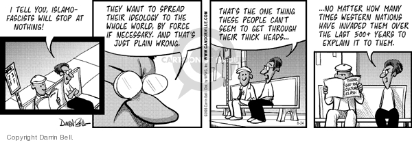 Comic Strip Darrin Bell  Candorville 2006-08-24 spread