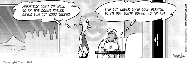 Comic Strip Darrin Bell  Candorville 2006-09-09 stereotypical