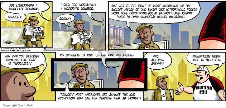 Comic Strip Darrin Bell  Candorville 2006-09-10 withdraw