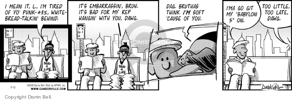 Comic Strip Darrin Bell  Candorville 2006-09-12 bad communication