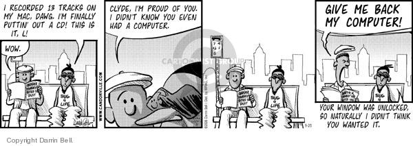 Comic Strip Darrin Bell  Candorville 2006-09-25 robbery