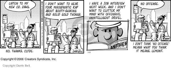 Cartoonist Darrin Bell  Candorville 2006-09-26 job