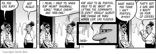 Comic Strip Darrin Bell  Candorville 2006-09-29 ain't