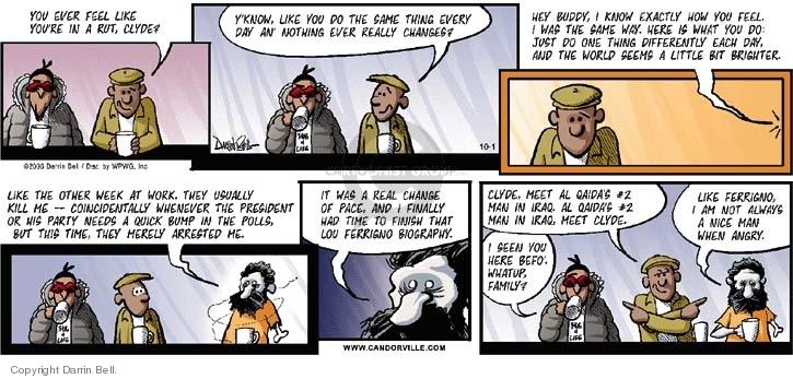 Comic Strip Darrin Bell  Candorville 2006-10-01 fear