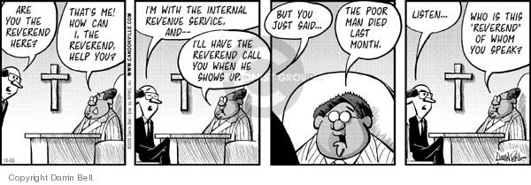 Comic Strip Darrin Bell  Candorville 2006-10-03 church state