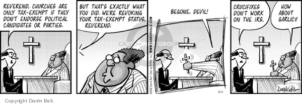 Comic Strip Darrin Bell  Candorville 2006-10-04 church state