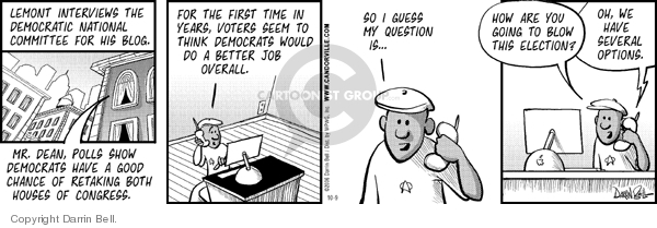 Comic Strip Darrin Bell  Candorville 2006-10-09 election
