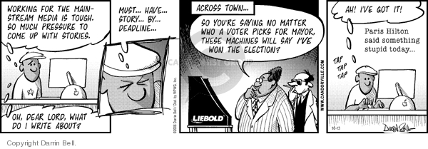 Comic Strip Darrin Bell  Candorville 2006-10-13 election
