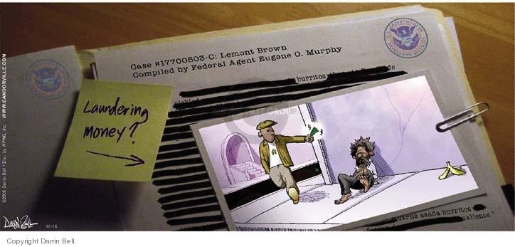 Comic Strip Darrin Bell  Candorville 2006-10-15 terrorism surveillance