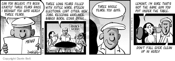 Comic Strip Darrin Bell  Candorville 2006-10-20 New Year