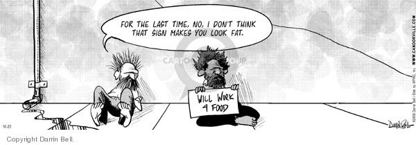 Comic Strip Darrin Bell  Candorville 2006-10-23 fat