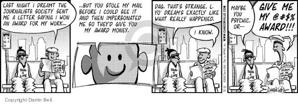 Comic Strip Darrin Bell  Candorville 2006-10-25 prize money
