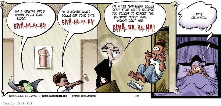 Comic Strip Darrin Bell  Candorville 2006-10-29 tax