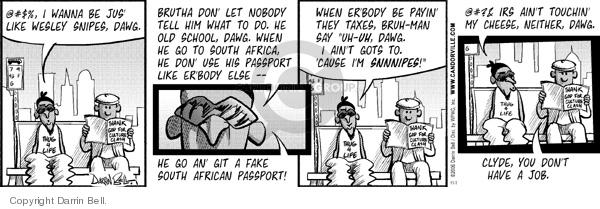 Comic Strip Darrin Bell  Candorville 2006-11-01 ain't