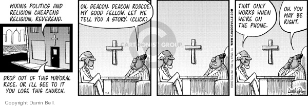Comic Strip Darrin Bell  Candorville 2006-11-04 church state