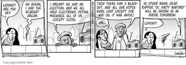 Comic Strip Darrin Bell  Candorville 2006-11-09 election