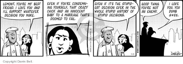 Comic Strip Darrin Bell  Candorville 2006-11-15 love
