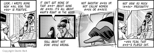 Comic Strip Darrin Bell  Candorville 2006-11-21 passe