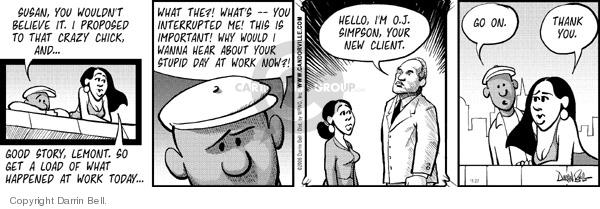 Comic Strip Darrin Bell  Candorville 2006-11-27 employment