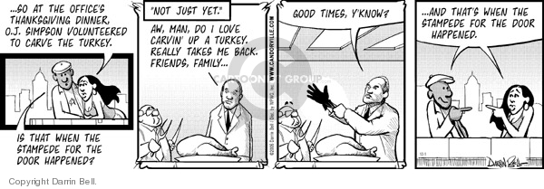 Comic Strip Darrin Bell  Candorville 2006-12-01 Thanksgiving